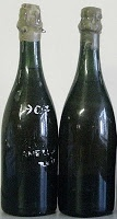 Actual Champagne bottles salvaged from the shipwreck of the Titanic!