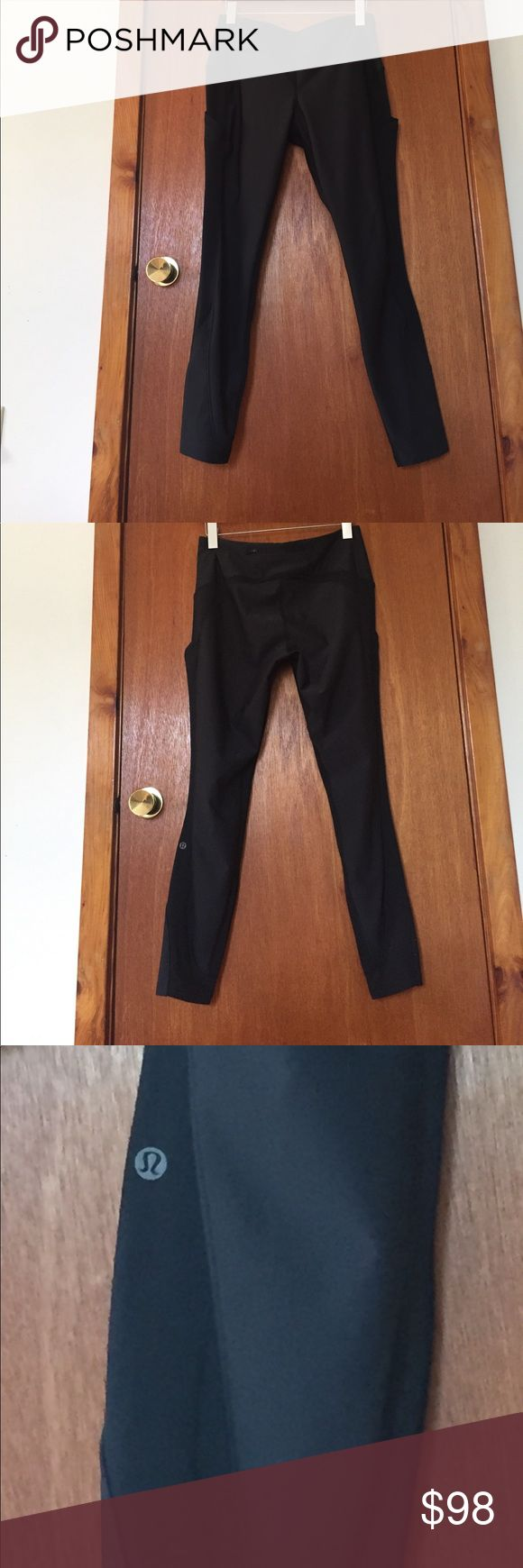 Lululemon sleet sprinter tight sz 10 Lululemon black sz 10 sleet sprinter tight. Awesome for winter runs, snowshoeing, or super toasty base layer under ski or snow mobile layers - I have them in blue and just don't need 2 pairs lululemon athletica Pants Leggings