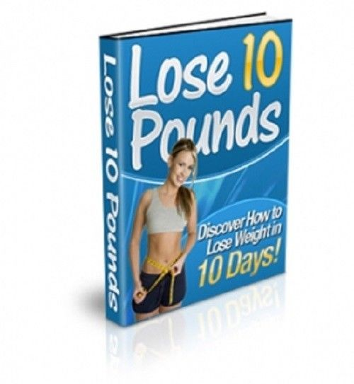 Lose 10 Pounds Weight / 10 Days Master Resell Rights Free International Shipping