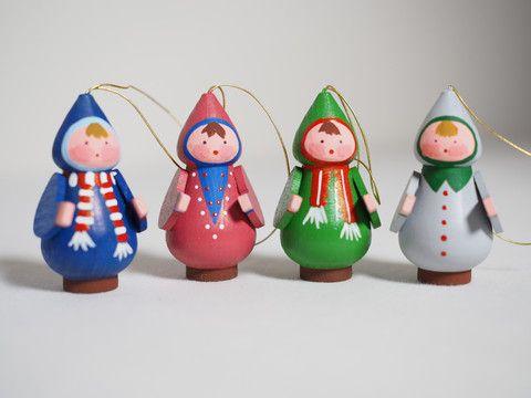 Small snow children ornament (set of 4) – Adornare