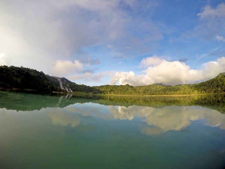 Linow lake ,manado, indonesia.