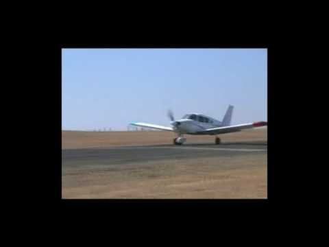 Bad pilot instruction on landing