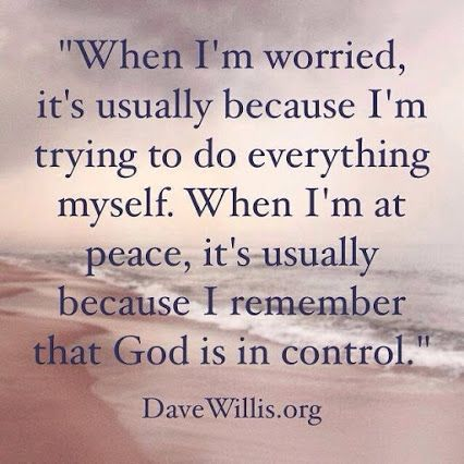God is in Control.