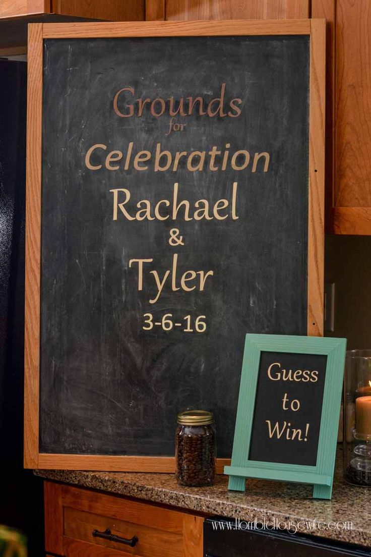 Grounds for celebration sign at a coffee bridal shower