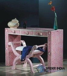 Indian+Teak+Bone+Inlay+Furniture