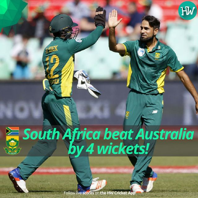 What a chase we just witnessed! South Africa chased down 371 and won the 3rd ODI! #SAvAUS #SA #AUS #cricket