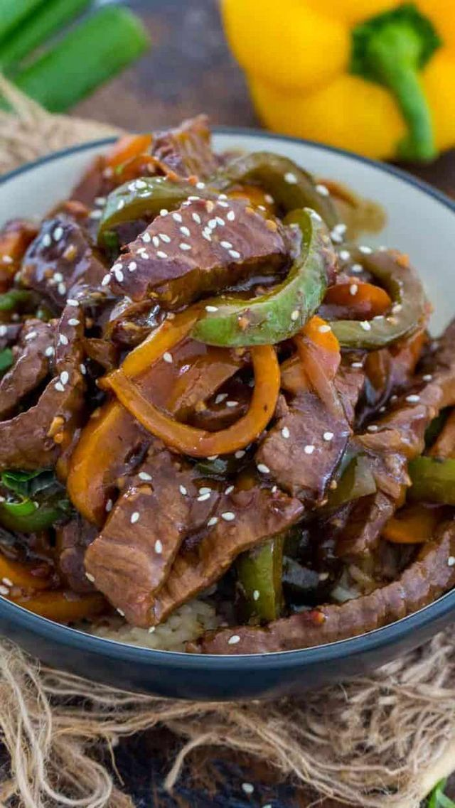 Easy Pepper Steak Spend With Pennies Pepper Steak Stuffed