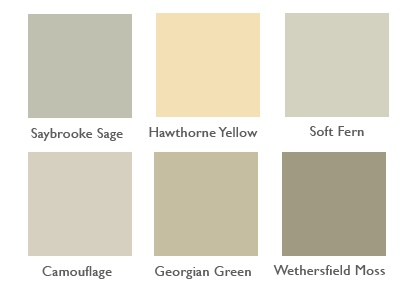 Hawthorne yellow for kitchen cabinets...possibly