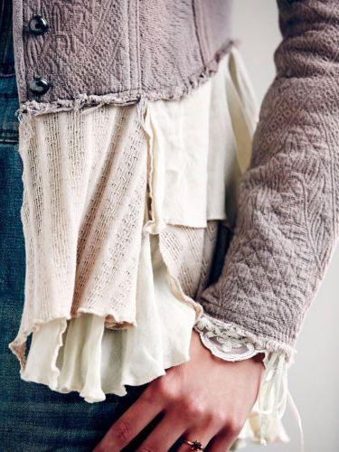 Adorable-Free-People-Military-Ruffles-Jacket-Size-2