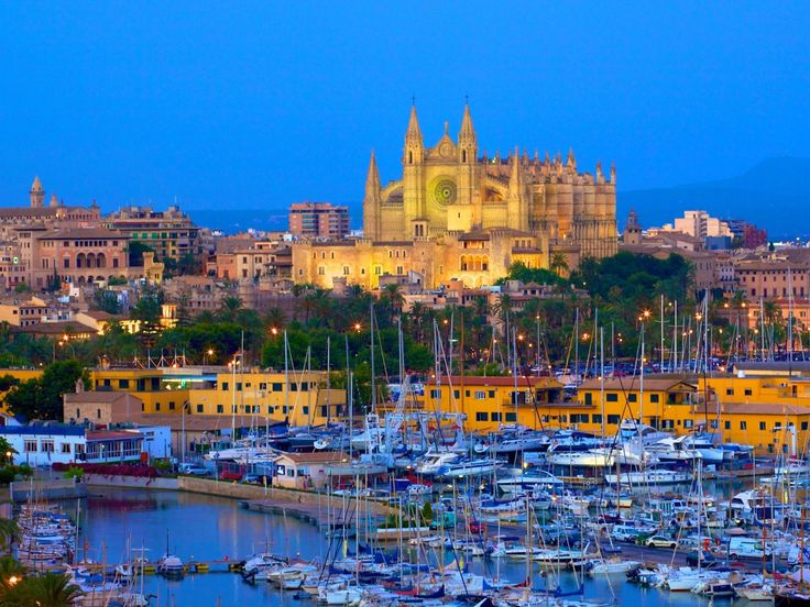 Cathedral and Harbour, Palma