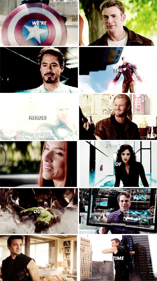 We're the heroes of our time. #marvel