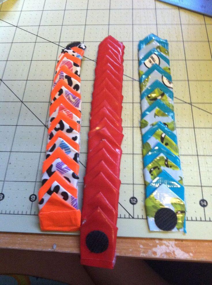 How To Make A Small Petal/spike Bracelet #duct_tape #kids #jewelry