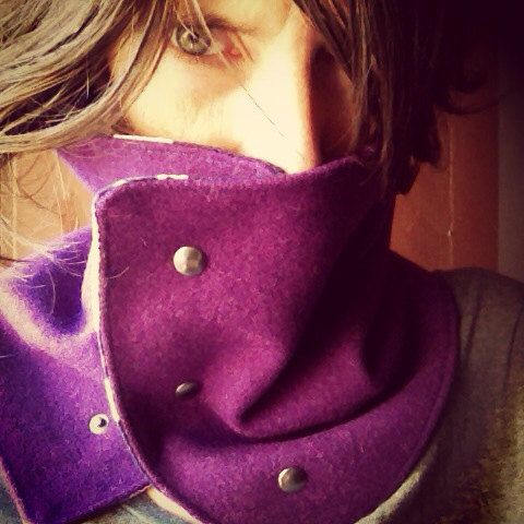 Let me warm you up - collar in purple on Etsy, 29,42 €