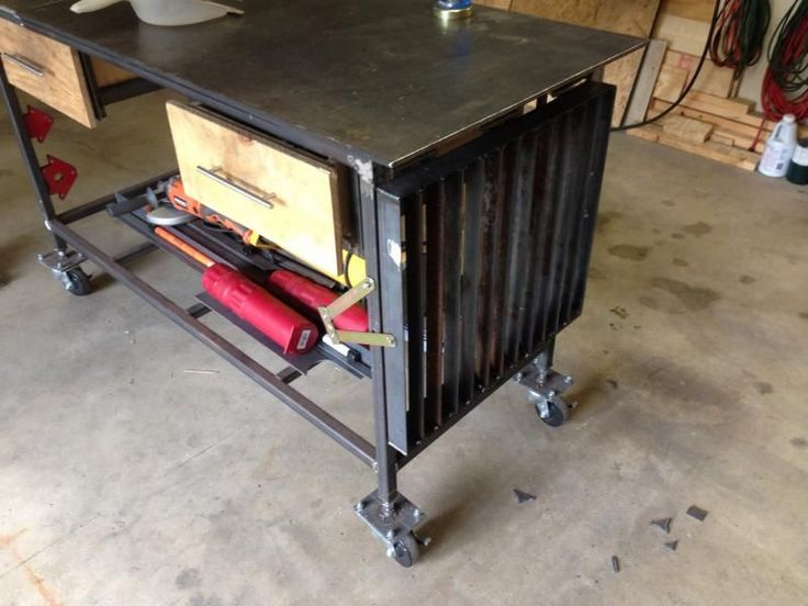 354 best images about welding station on pinterest - Plan fabrication table ...