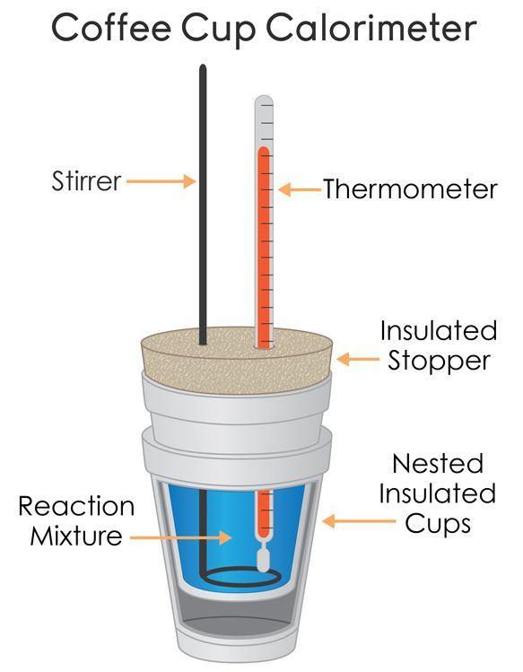 Coffee Cup Calorimeter Diagram Con Imagenes Cuadernos