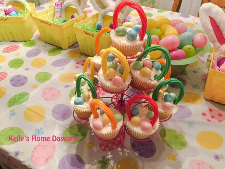 26 best kellys home daycare party ideas images on pinterest easter basket cupcakes with mms and licorice negle Images