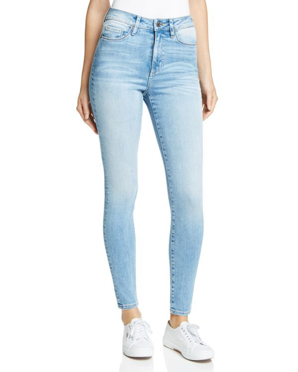 Hidden takes the high road with this rise-raising pair of skinnies, set to flatter in stretch-fit, faded-to-perfection denim. | Cotton/elastomultiester/elastane | Machine wash | Made in USA | Fits tru
