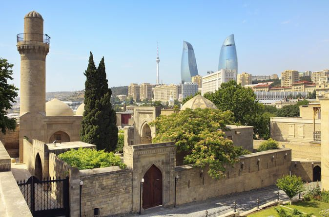4 Hour Private Baku City Tour with English Speaking Guide 4 hour private Baku City Tour with English speaking guide. Visit Highland Park, National Flag Square, Seaside Park (Baku Boulevard), Shirvanshahs` Palace, Maiden Tower, Juma Mosque, Double Gates, Bazar Square and Caravan Saray. Entrance fees to Maiden Tower and Shirvanshahs` Palace are included.  Be picked up from your centrally located Baku hotel by your tour guide at your chosen...