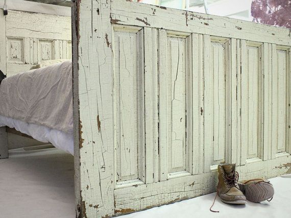 QueenSized Reclaimed Wooden Door Bed Frame by jerseyicecreamco, $2200.00    My husband thinks I am crazy for collecting old doors.   Love this idea.