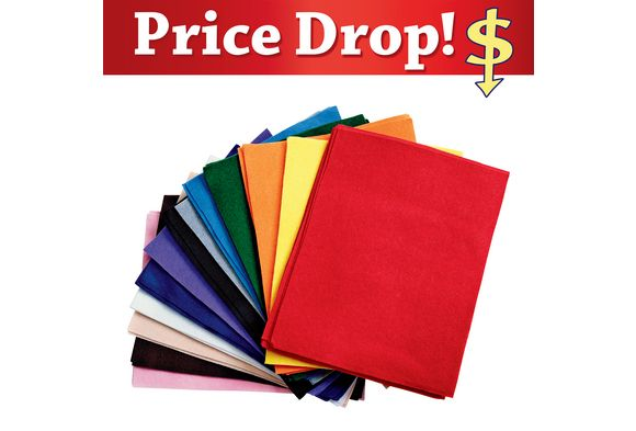 "Disc School Sup.Colored Felt, 9"" x 12""  - 50 Sheets 14.68+8.50 =.46"
