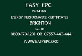 Contact us Easy EPC 12 Albion Street, Brighton, East Sussex BN2 9NE. Our advice is free so call a member of our support team on 0800 170 1201 (freephone) or 07557 443 444.
