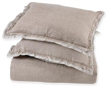 Neisha Cobblestone Bedding, Standard Sham transitional-pillowcases-and-shams