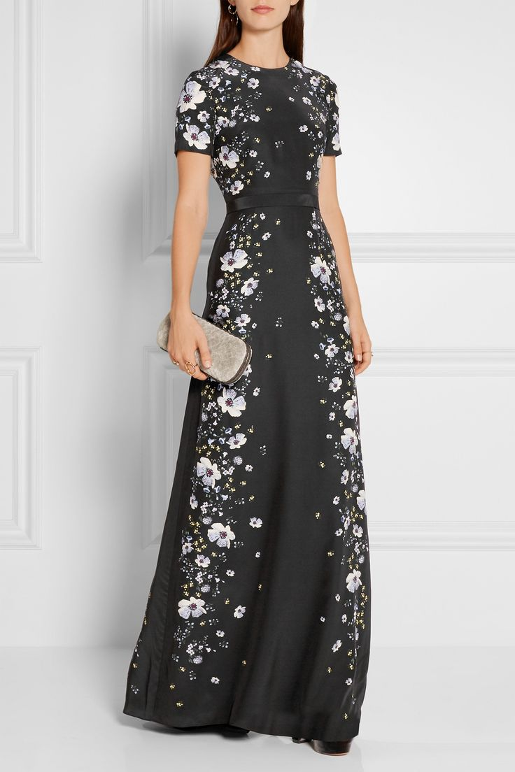ERDEM Samira printed silk crepe de chine gown  $3,250.00 https://www.net-a-porter.com/product/715550