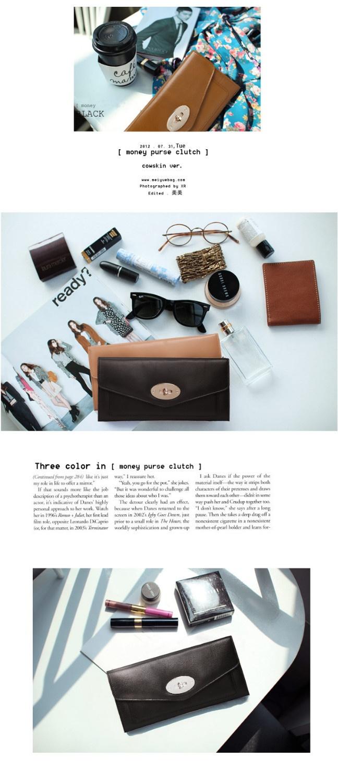 2013 NEW Elegant TMC Lady Black Genuine Leather SheepSkin Wallet Purse OL Style 8008-2