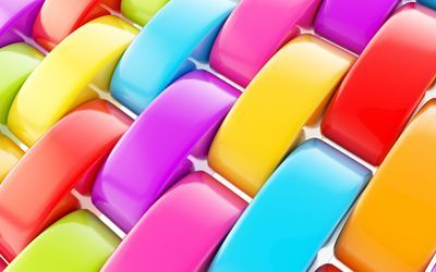 Vibrant colored rings wallpaper