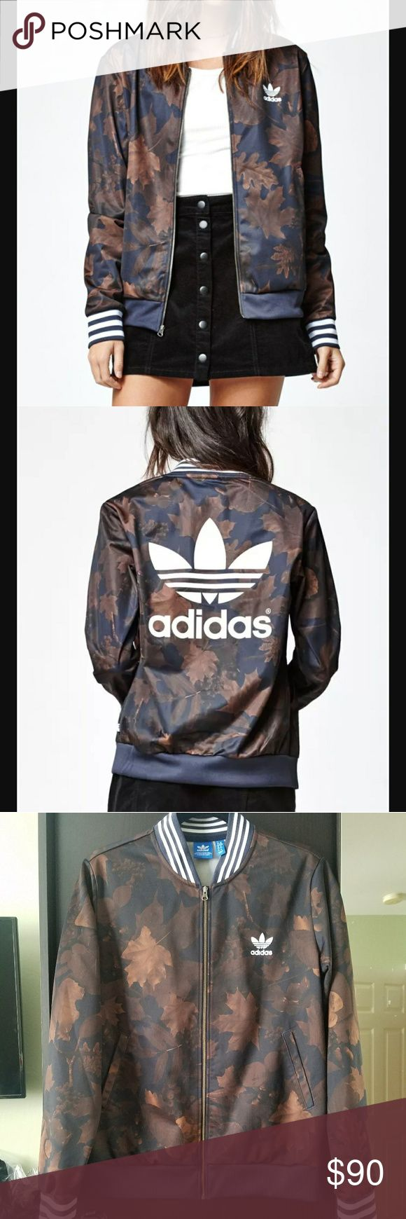 Adidas Leaf/Camo Jacket size M Adidas Leaf/Camo print jacket. Size M. In excellent used condition! adidas Other