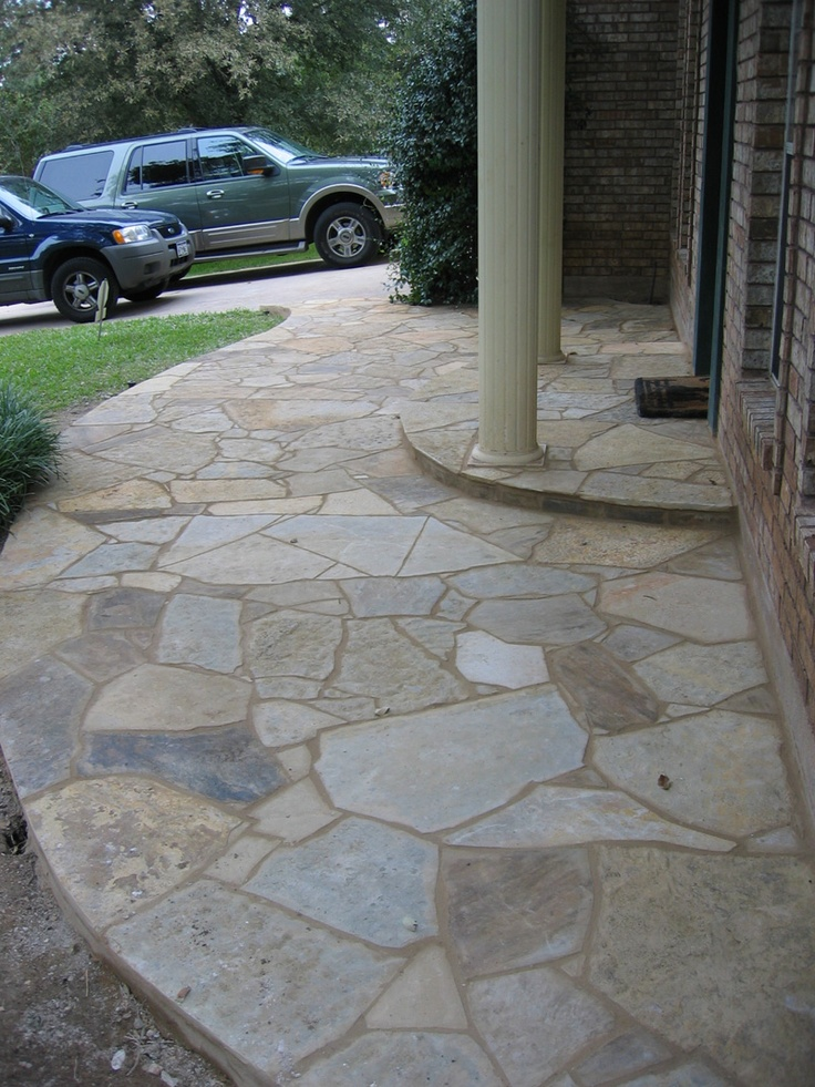 Flagstone Patio With Stone : Best images about flagstone porch on pinterest parks
