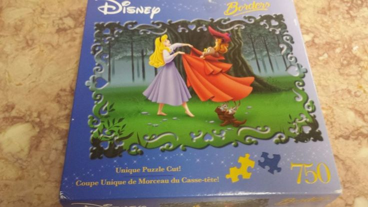 "Disney Sleeping Beauty BORDERS"" Puzzle Once Upon a Dream 750pcs Sealed #MegaBrands"