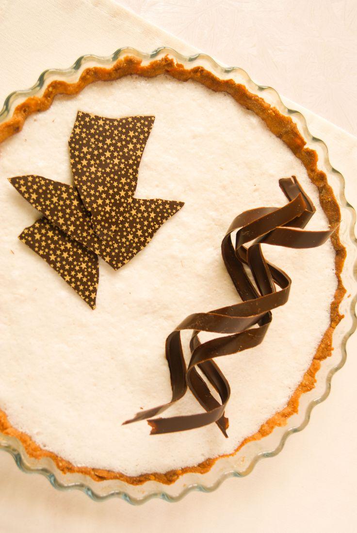 Tarte Chocolat & Noix de Coco sur pâte sablée au Pralin