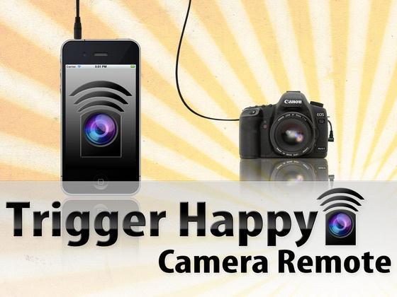 TriggerHappy Camera Remote — a device that turns your phone into an external camera remote for most modern Nikon and Canon DSLRs.
