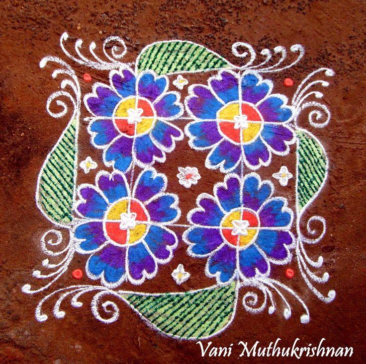 My Kolam: Floral square