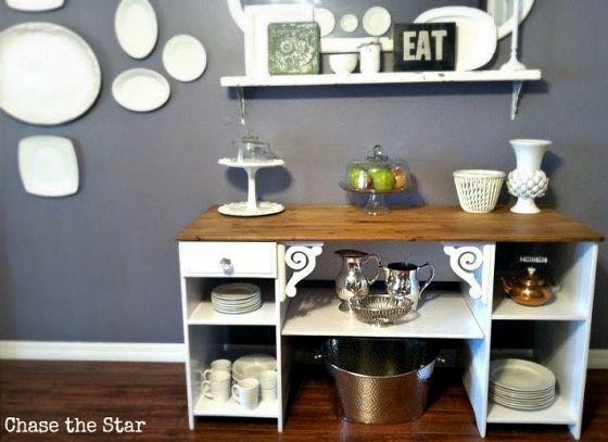 Repurposed Desk Buffet