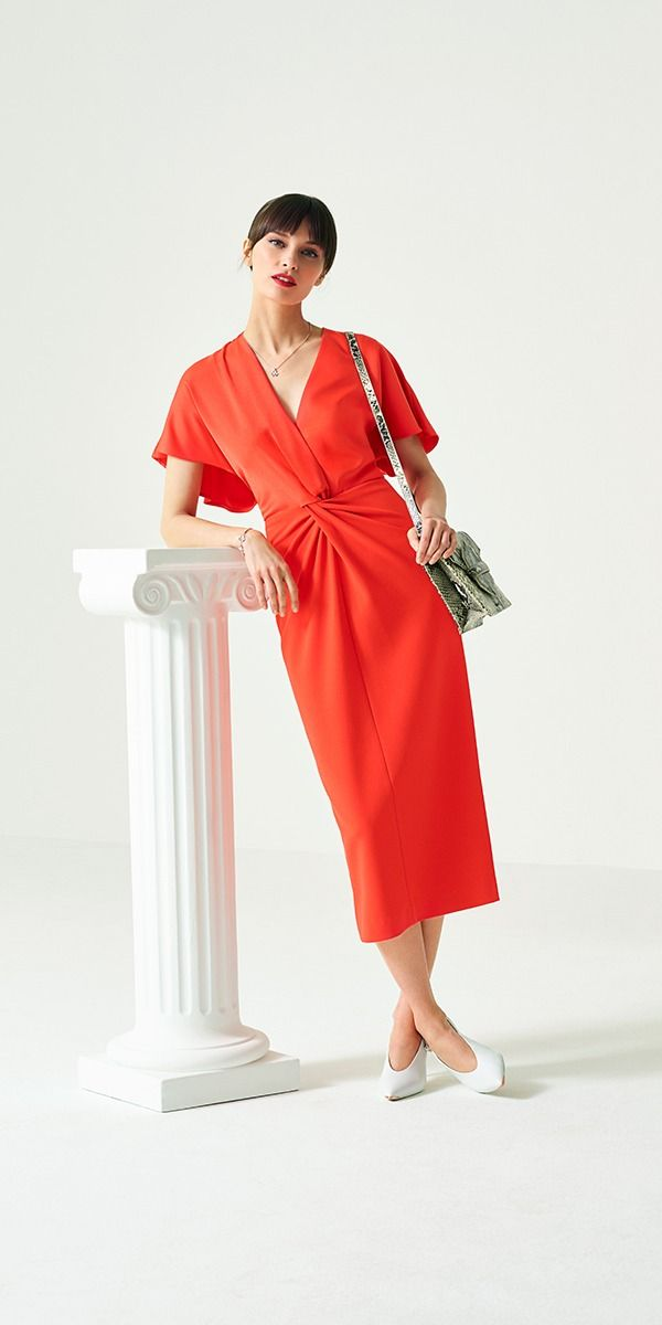 cd8a7d3c2b Get your special occasion style all wrapped up with the ELLAME dress.  Feminine and flattering