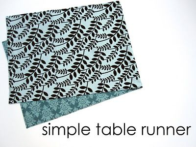 Simple Table Runner: Sewing Projects, Table Runner Tutorial, Crafty Things, Table Runners, Diy Projects, Sewing Tutorials