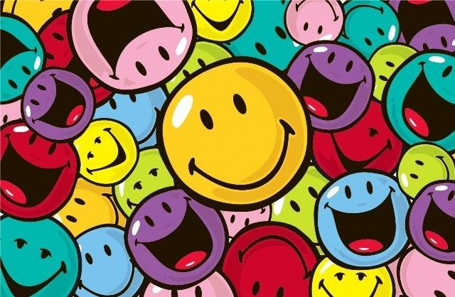 Smiley World Smiles and Laughs Area Rug