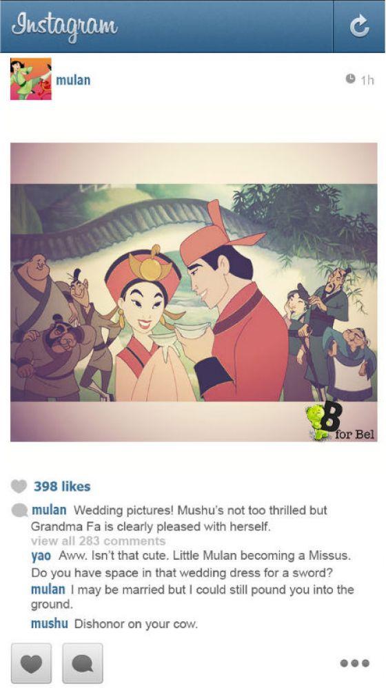 Disneyprinsessen Instagram