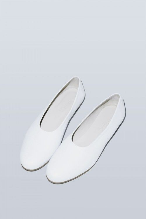 Deux Souliers Tender Slipper in White Boxcalf at No.6 Store