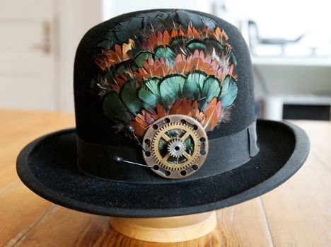 Searched on Google and happened to find a picture of one of my early hats where I made the decoration.