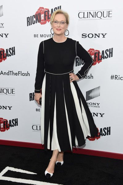 """Actress Meryl Streep attends the New York premier of """"Ricki And The Flash"""" at AMC Lincoln Square Theater on August 3, 2015 in NYC."""