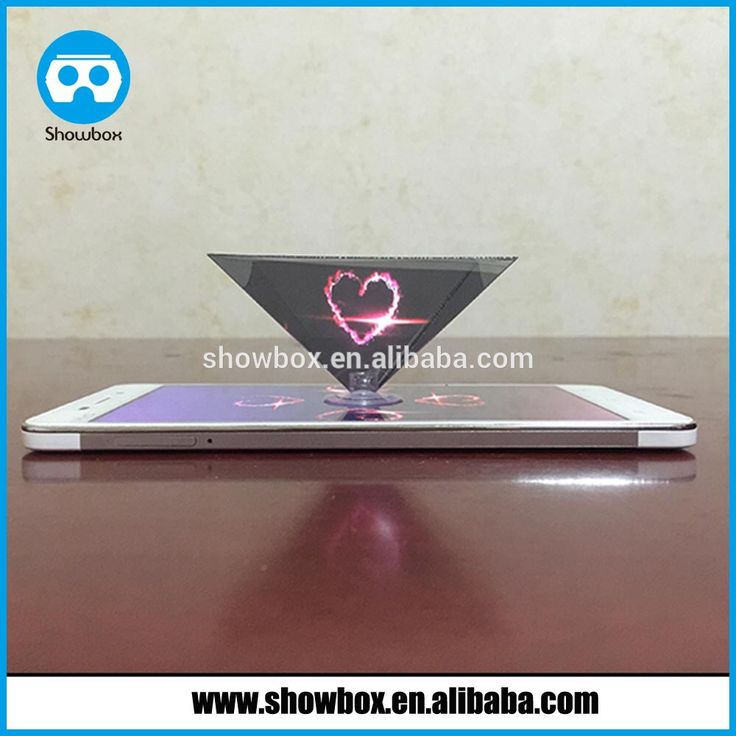 Premium 3D Hologram Video Projector reverse Pyramid for Phones
