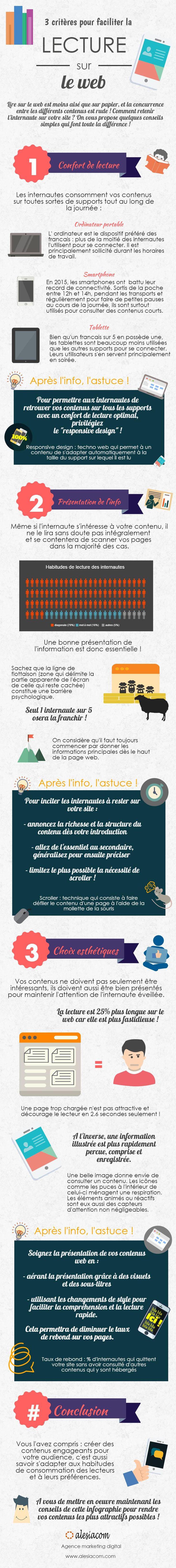 #Infographie : 3 critères pour faciliter la lecture sur le #web