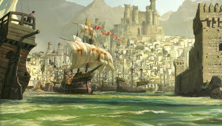 craig mullins - harbour <3 love love love this image! i can see this place in my mind's eye.