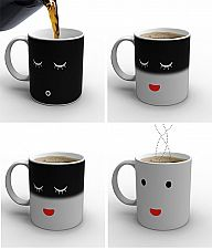 when you're drink is cold your mug goes to sleep.... this is SO cool! I want one!