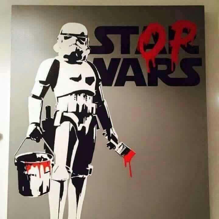 #bansky en #arteurbano cambiando Aleen Guerra Hyer por Pascal Champagne. Sus #gr…