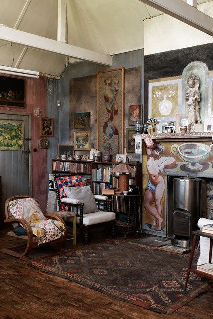 Discover living room design ideas on HOUSE - design, food and travel by House & Garden. The living room of Charleston, country haunt of the Bloomsbury group.