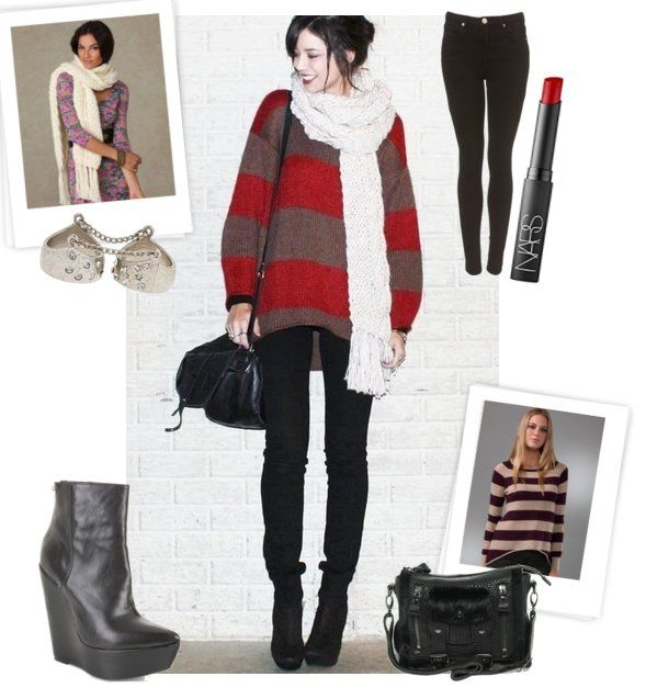 Look We Love — Bold Stripes and Chunky Scarves